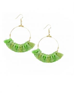 Earring Tassel in green