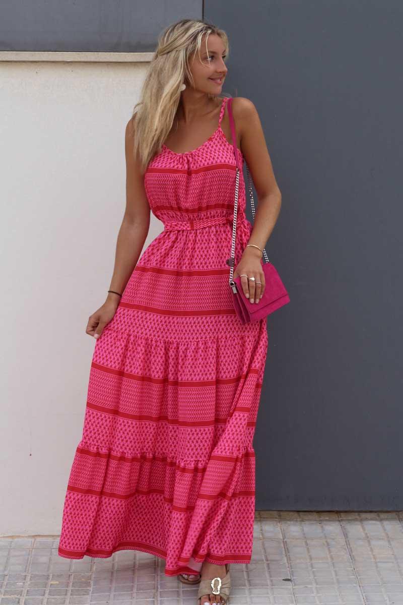 Alexa Kleid Pali Maxi pink rot