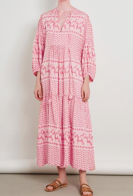 Pearl & Caviar Kleid maxi rosa pink - i-miss-sophie-london
